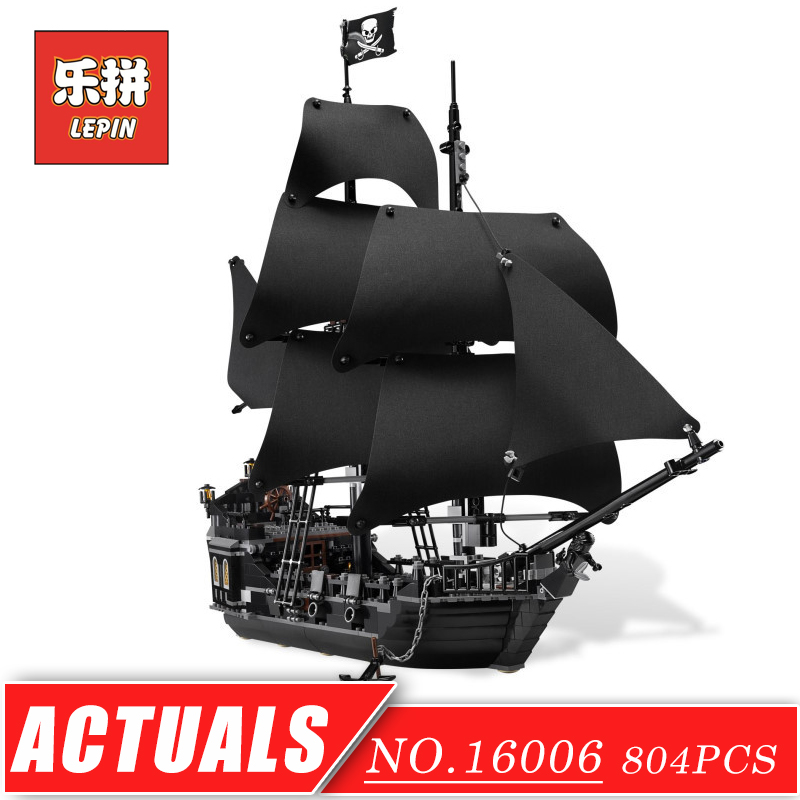 LEPIN 16006 Movie Series Pirates of the Caribbean the Black Pearl Set DIY Model Building Kits Blocks Bricks Children Toy Hobbies