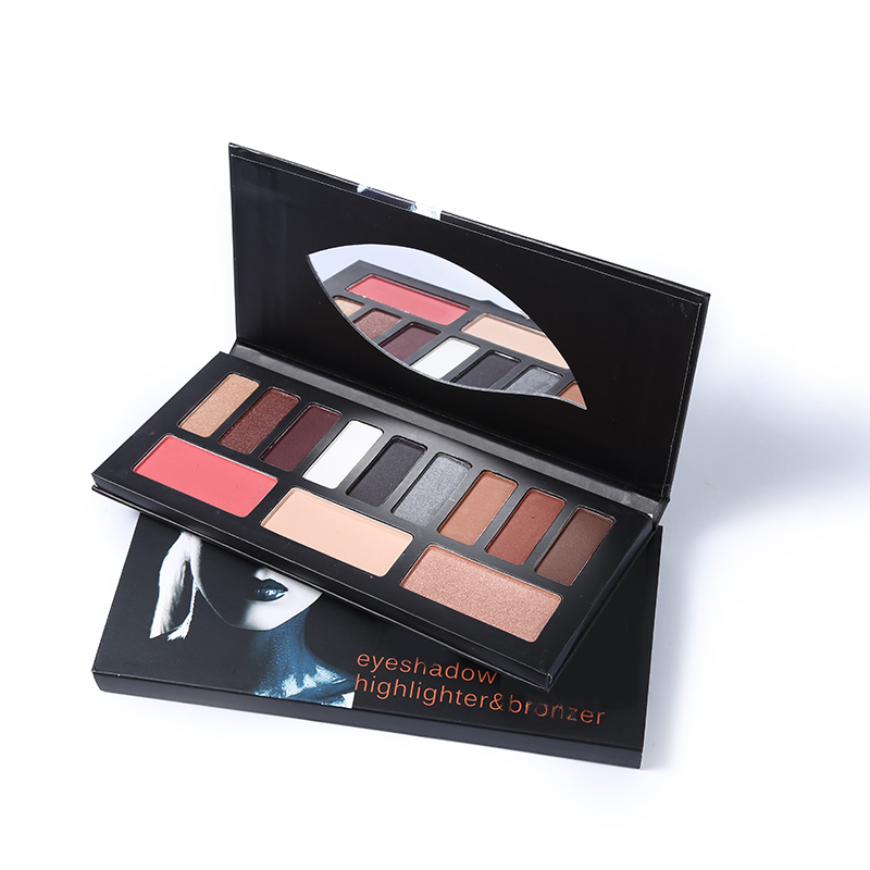 f271a9028b560 US $10.25 |12 Color Shade Light Eyeshadow Palette Highlighter Face and Eye  Contour Makeup Set Matte Shimmer Eye Shadow Smoky Pigments-in Eye Shadow ...