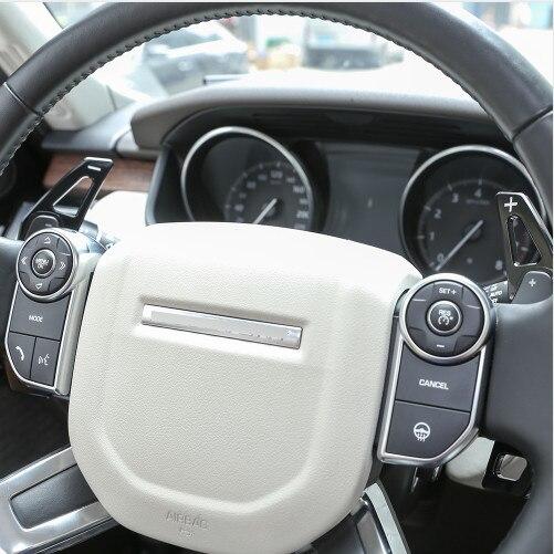 Palette de changement de vitesse de volant noir en alliage d'aluminium pour découverte Land Rover pour accessoires de voiture Jaguar XF XE F-PACE