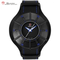 Silky Shark Sport Watch Blue 3 D Designer Gift Box Top Brand Luxury Men Leather Strap