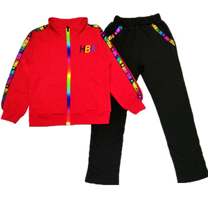 Image 5 - 5 color Girls jacket and trousers two piece Sets Fashion Letter stripe print Sports suit autumn clothes for girls clothes set