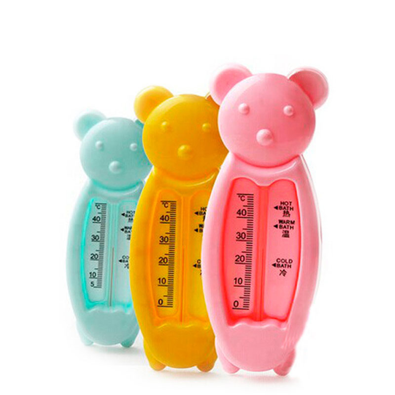 1pc infant health monitors new design cartoon bear baby bath water thermometer room temperature measurement baby care