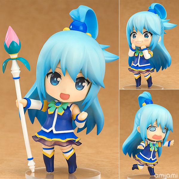 Nendoroid 630 Anime Kono Subarashii Sekai ni Shukufuku wo! Aqua PVC Action Figure Collectible Model ToysNendoroid 630 Anime Kono Subarashii Sekai ni Shukufuku wo! Aqua PVC Action Figure Collectible Model Toys