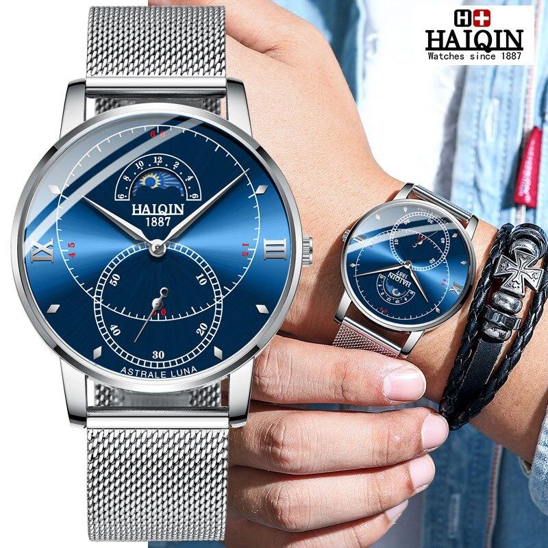 HAIQIN montres pour hommes Quartz montre pour hommes top marque de luxe montre de sport militaire hommes montre-bracelet reloj hombre 2019 Relogio Masculino