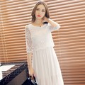 New Arrival Ladies Cute Dress Women sexy lace dress fairy full dress one-piece Dress