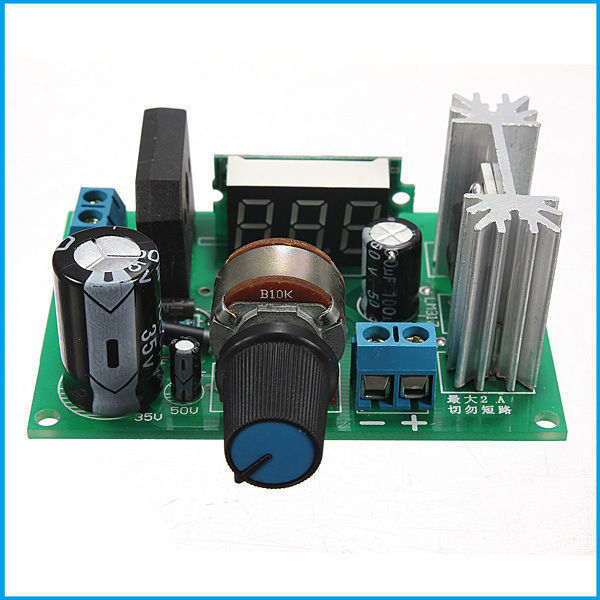 LM317 Adjustable Voltage Regulator Step-down Power Supply Module LED Meter 100 pcs lm317m to 252 lm317 medium current 1 2 to 37v adjustable voltage regulator