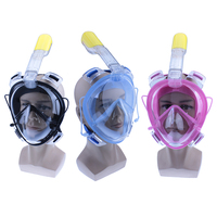 2017 Full Face Snorkeling Scuba Mask Underwater AntiFog Mask Diving Snorkel Set Swimming Snorkel Diving Goggles