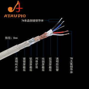 Image 5 - ATAUDIO Hifi 3.5mm to 2RCA  Cable Hi end Copper and Silver plated 3.5 Aux to Dual  RCA Audio Cable