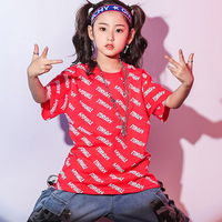 Girls Hip Hop Clothes Street Dance T Shirt+Jeans For Children Sport Jazz Dance Kid Hip Hop Performance Girl Stage Costume BL1568