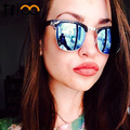 Trioo clássico do vintage óculos polarizados óculos de sol das mulheres designer de marca óculos de sol para as mulheres retro semi óculos sem aro shades oculos feminino