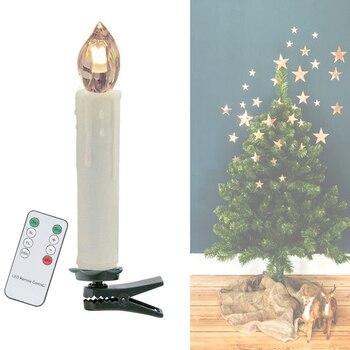 10 pcs Dimbare LED Kaars Licht sprookje verlichting Kerstboom lamp Indoor Outdoor Bruiloft Festival Home Decor