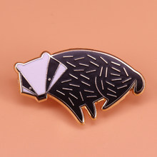 Night Wolf enamel pin tattoo art brooch men black animal badge stars witchy jewelry women Clothing backpack decorations gift(China)