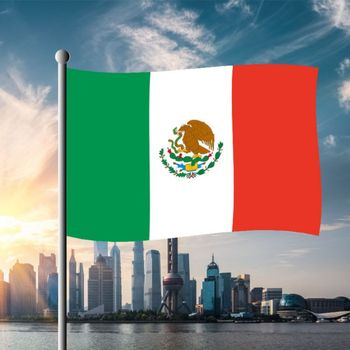 1 Pieces Mexico National Flag 60*90cm Hanging Flags Outdoor Activity/Parade Banner For Festival World Soccer Cup фото