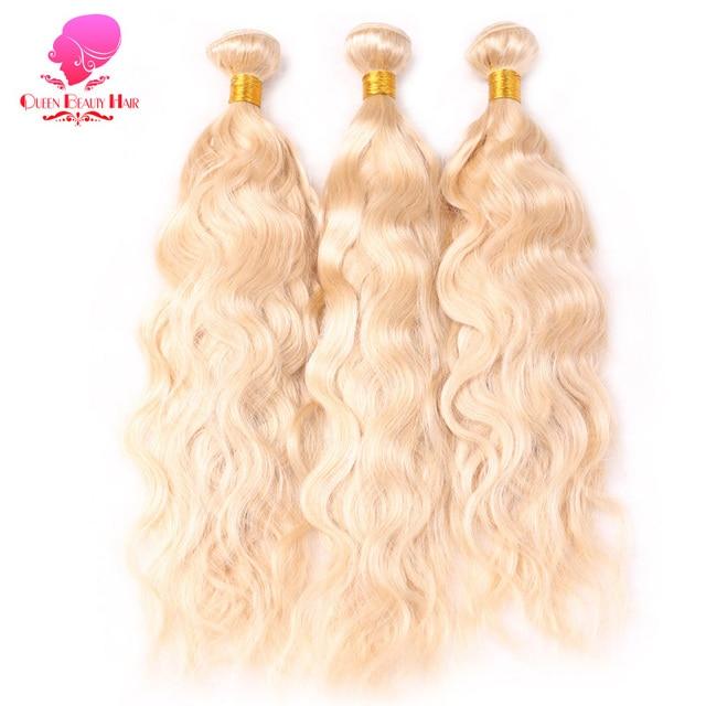 Queen Beauty 134 Pcslot Platinum 613 Blonde Color Human Hair