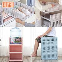 White Pink Blue Detachable Drawer type clothes storage box, bedroom cabinet, interlayer wardrobe, storage rack,Layered shelves