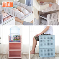 White Pink Blue Detachable Drawer type clothes storage box, bedroom cabinet, interlayer wardrobe, storage rack,Layered shelves