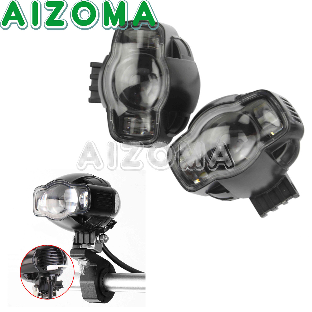 Motorcycles Black Headlight LED Spotlight 2pcs Fog Light With USB Charger Universal For BMW F800 F650 GS S1000RR BMW R1200GS ADV front head light driving aux lights fog lamp assembly for bmw r1200gs lc adv f800 f750 f650 r1150 gs motorcycle accessories