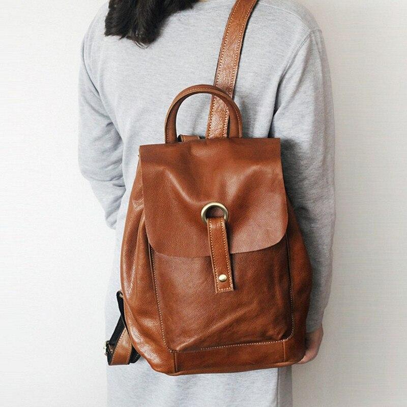 Femmes sacs à dos en cuir de mode casual en cuir véritable sac à dos noir sacs femmes femme haute qualité école sac à dos