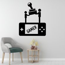 Artistic Gamer Pvc Wall Decals Home Decor Nursery Kids Room Decoration Accessories Murals adesivo de parede