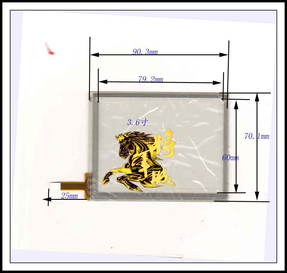 GENCTY For 3.6-inch four-wire resistive touch screen 90 * 70 W-Y
