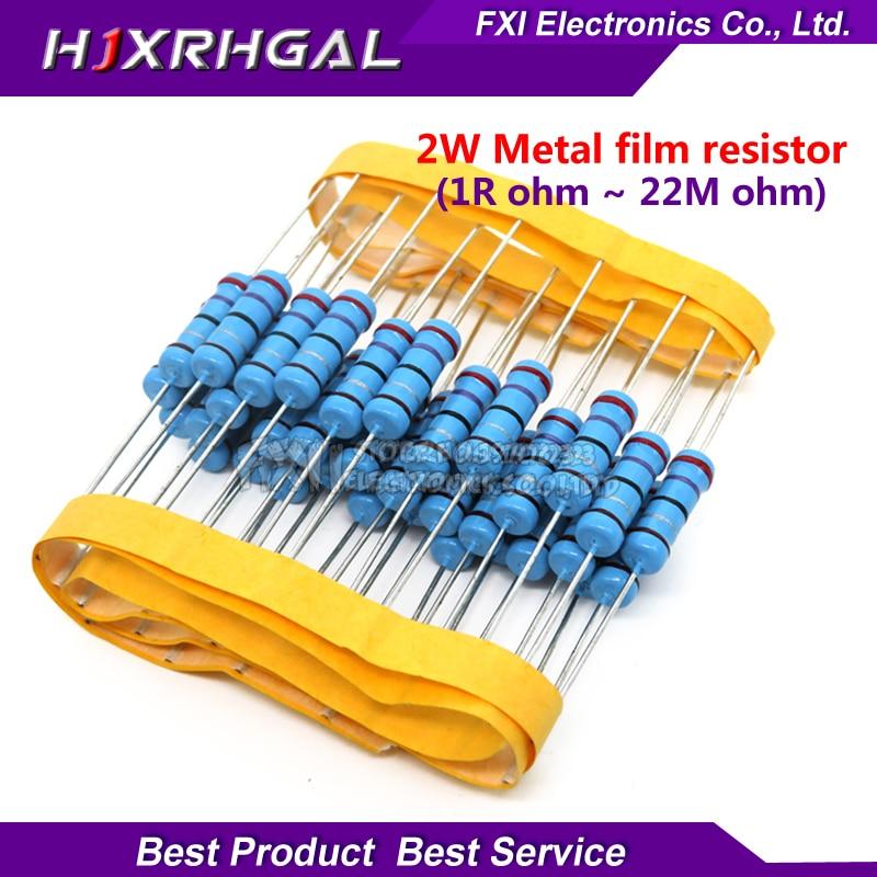 1000pcs 2W 1R 2 2M 1 Metal film resistor series 100R 220R 1K 1 5K 2