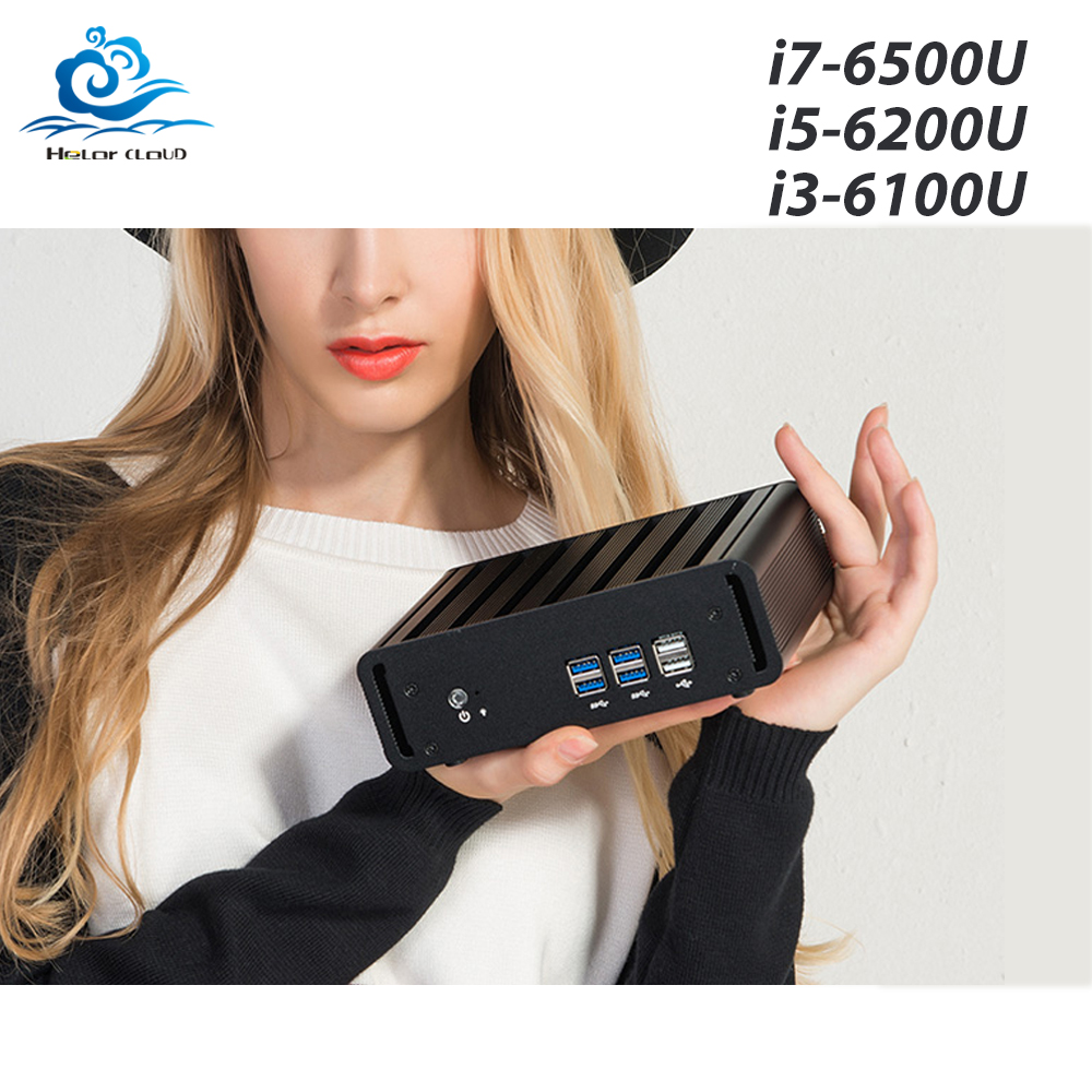 Mini PC Core i7 6500U i5 6200U i3 6100U Mini computer HD Graphics 520 Windows 10 HTPC HDMI WIFI USB Desktop gaming PC