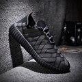 Японский Черный Рыцарь стиль Летний спорт тканые мужской обуви повседневная обувь дышащая ручного вязания