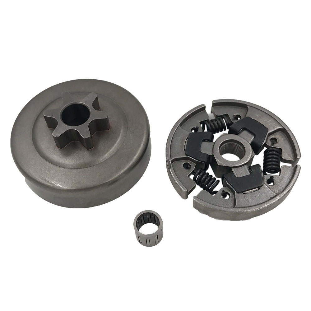 MS180 170 chainsaw 6T clutch drum and clutch with bearing fits For STIHL 017 018 chain saw clutch fits for 25cc 25cc 2500 chain saw spare parts