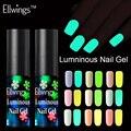 Ellwings neón fluorescente luminosa Gel de esmalte de uñas de Gel UV que brillan en la oscuridad de Gel de barniz de cambio de Color de uñas de Gel