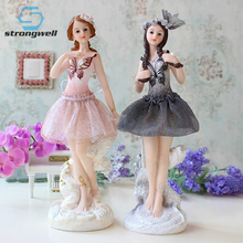 Strongwell Ballet Girls Ornaments Home Furnishings Wedding Gifts Crafts Garden Decor Craft Garden-miniatures girl gift