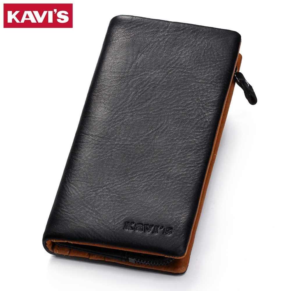 Кавис Натуральная кожа бумажник Для мужчин мужской Cuzdan клатч Walet Portomonee Длинный кошелек портфель Perse Валле деньги сумка для монет