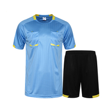 New professional men soccer jerseys referee uniforms football shirts shorts suit Breathable quick dry soft jersey kits DIY print