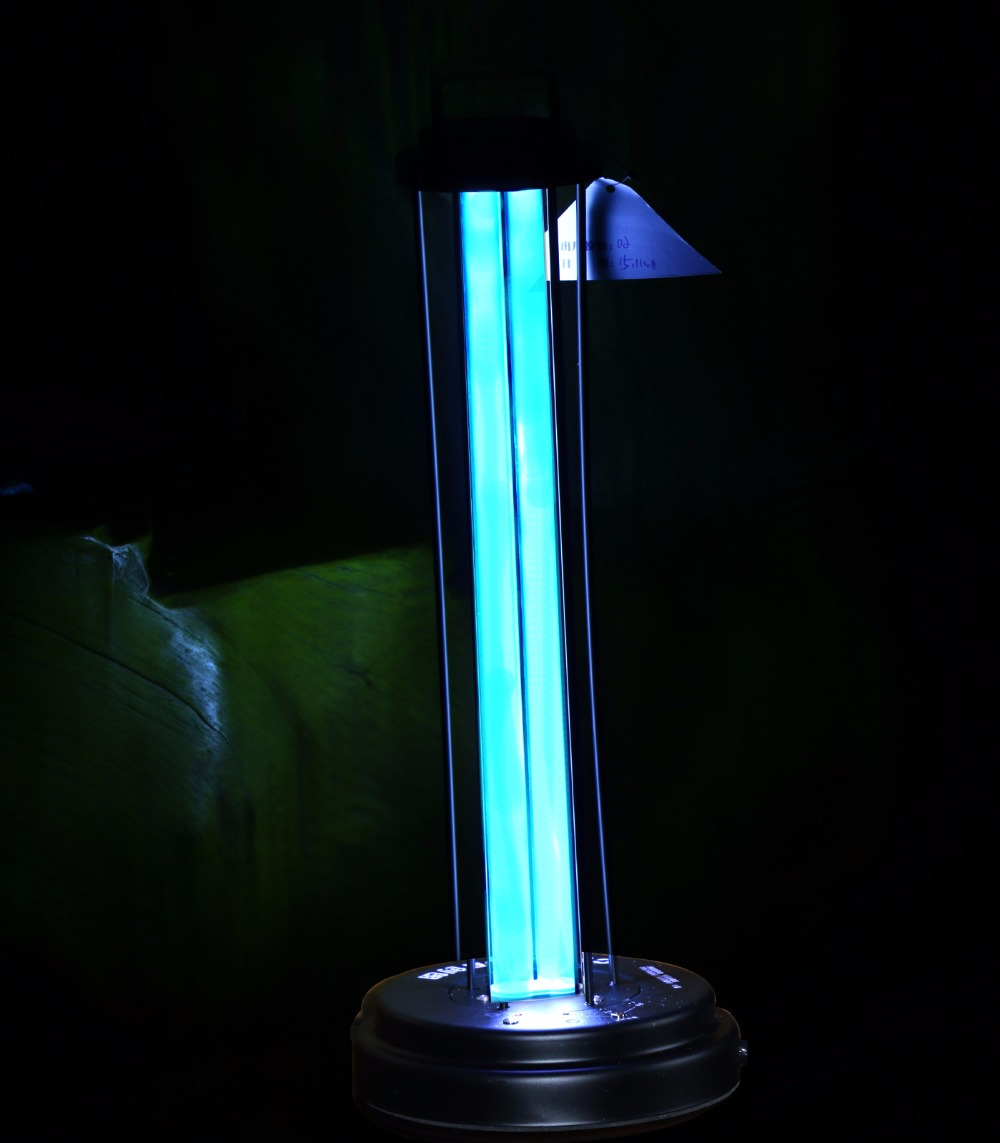 60W Non-Chemical Remote Control UV Quartz Germicidal Ultraviolet Light Lamp Portable Light tube Protect Unit Ozone Free
