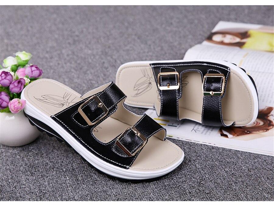 ea53292b1fe99 STQ sandals women 2018 summer shoes women white wedge sandals Platform  Sandalias ladies flat sandals women beach shoes 8623USD 29.83-33.13 pair