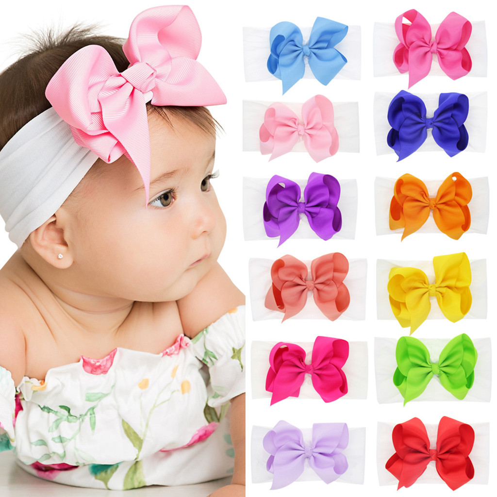 Cute Newborn Toddler Kid Baby Girls Bow Knot Turban Headband Headwear Accessoire Serre Tete Bebe Hairband Baby Girl Bandeau Bebe