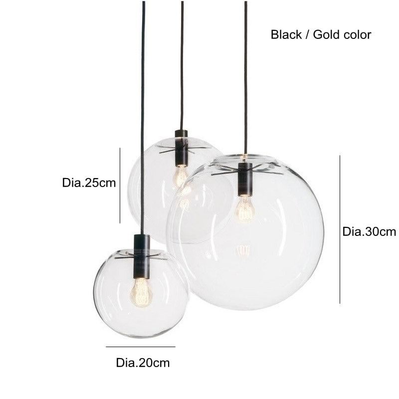 Vente Suspension Luminaire Design Moderne Pendentif Lumiere Minimaliste Loft Decontracte Clair Verre Salon Chambre Boule Ronde 30 Cm Pas Cher En Ligne
