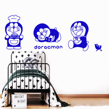 Modern Doraemon Self Adhesive Vinyl Waterproof Wall Decal For Kids Room Decoration Wall Art Sticker Murals free shipping dancing self adhesive vinyl waterproof wall decal for kids room decoration waterproof wall art decal naklejki
