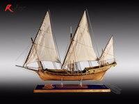 RealTS классические деревянные парусные лодки деревянная шкала корабль LE Реквин дерева комплект модели корабля 1/48 Акула всю ребра сборка моде