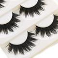 5 pares de maquiagem thick as pestanas falsas eye lashes longa das senhoras das mulheres preto nautral artesanal ferramentas de maquiagem beauty