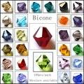 5301/5328 Atacado Top Qualidade AAA Bicone Beads 100 pçs/lote 3mm 4mm 5mm 6mm 8mm 10mm Contas de Cristal Para Fazer Jóias DIY