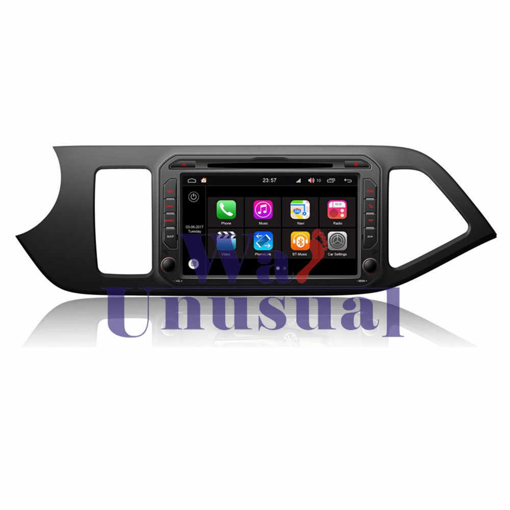 "WANUSUAL 8 ""WINCA S190 Android 7.1 Dört Çekirdekli Araba DVD OYNATICI Kia Picanto 2011 için 2012 2013 2014 2015 2016 2017 2018 Radyo Stereo"