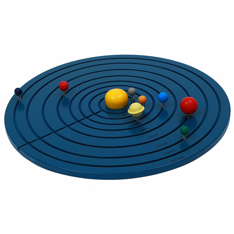 Montessori Wooden Science Material Solar System Early Childhood Education Toy For Family Preschool Teaching Aids