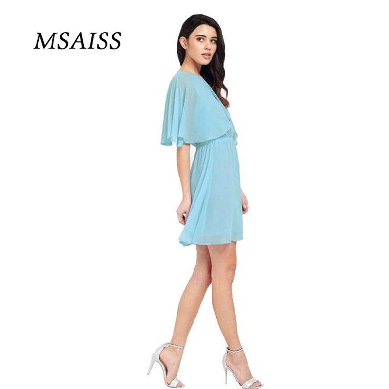 MSAISS Wanita Musim Panas Gaun 2017 Gaun Pesta Hitam Wanita Gaun - Pakaian Wanita - Foto 5
