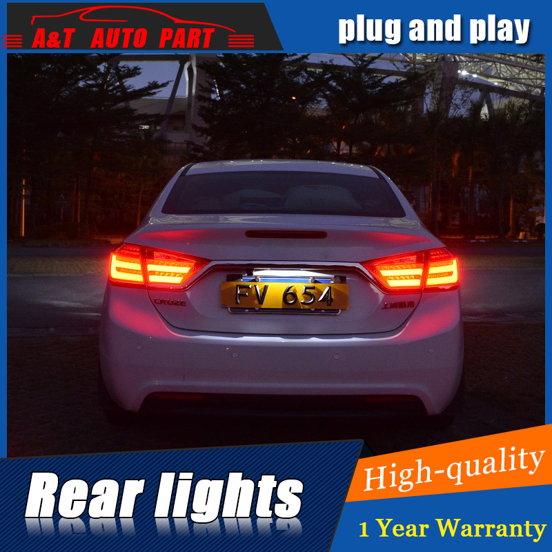Car Styling LED Tail Lamp for Chevrolet Cruze Taillight assembly 2015-2016 for Cruze Rear Light DRL Signal with hid kit 2pcs. wljh 11x canbus 2835 smd led dome map interior light kit for chevrolet cruze equinox sonic malibu spark suburban traverse 2015