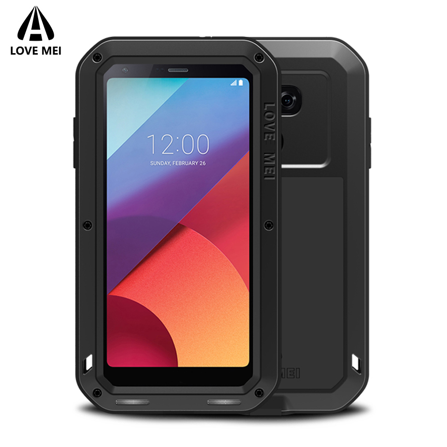 Love Mei Case For LG G6 G4 Cover Powerful Aluminum Metal Armor Shockproof Life Waterproof Case For LG G6 G4 Case