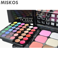 78 Color Palette – Set of 48 Eyeshadow + 24 Lip Gloss + 3 Foundation Face Powder + 3 Blush Makeup Kit
