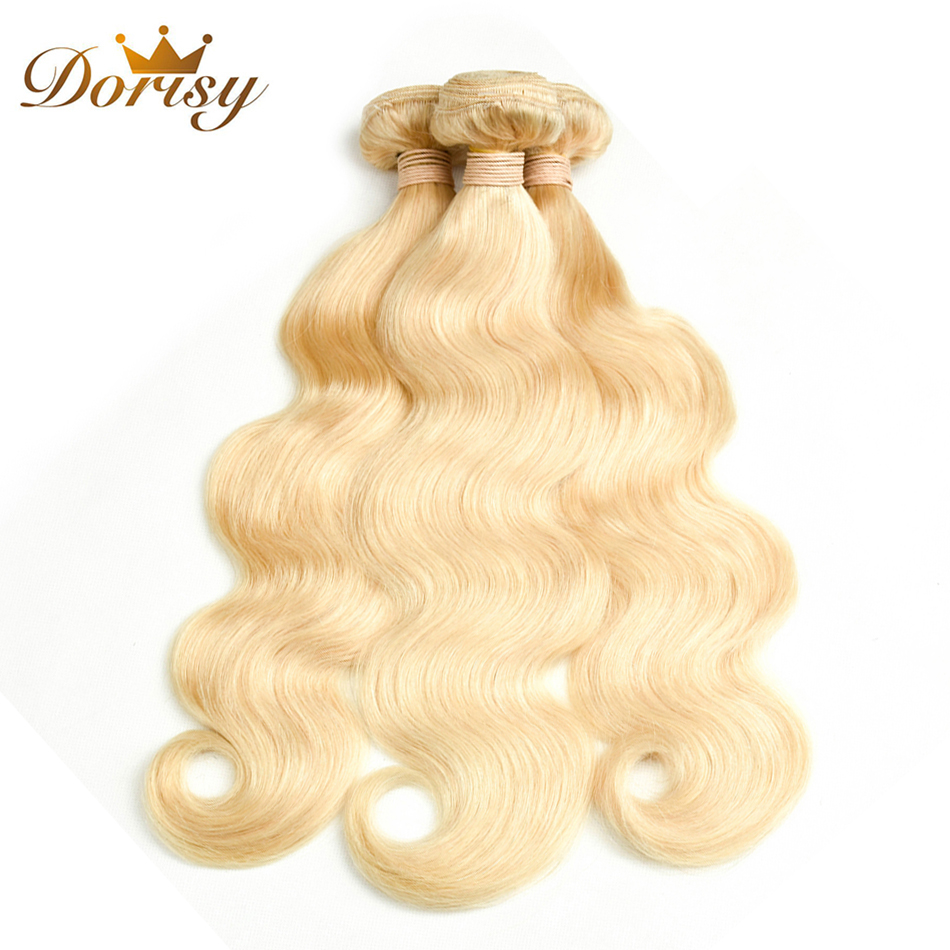 Dorisy Hair Indian Body Wave 3 Bundles 10-24 Inch 613 Blonde Remy Hair Weave Bundles Free Shipping 100% Human Hair Extension