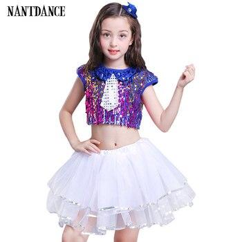 e818f5665 De baile de los niños traje para niñas niños moderno baile de Jazz trajes  de ropa para la Salsa de danza contemporánea trajes