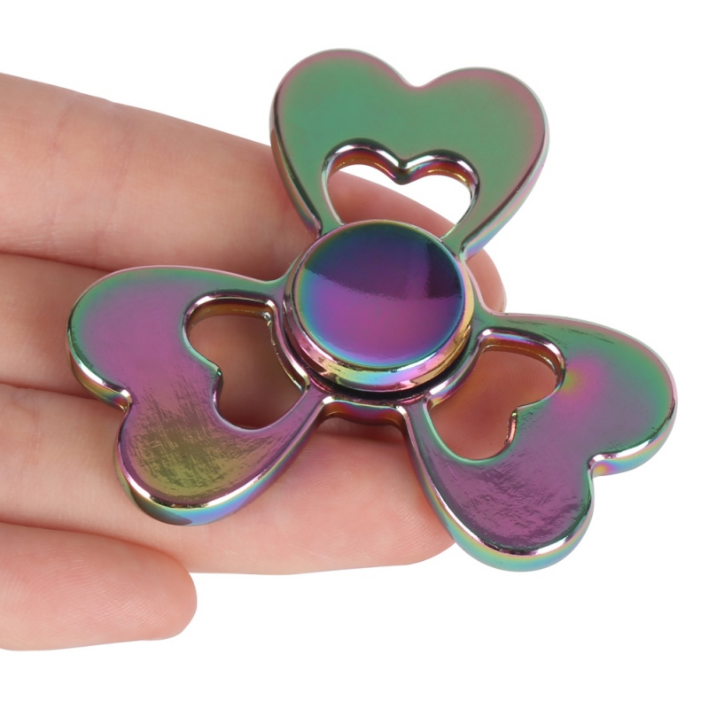 Clover Three Leaf Colorful Hand Spinner Metal EDC Tri-Spinner Bearing Fidget Finger Kids Adult Focus Creative Funny Toy