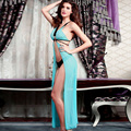 The most romantic thing sexy lingerie hollow Valentine V collar three piece 6147 yarn nightdress